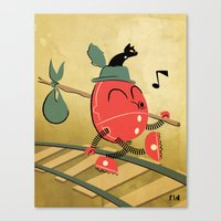 It's A Carefree Hobo Lif… Canvas Print