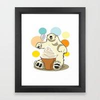 Polar Bear's Summer Time Framed Art Print