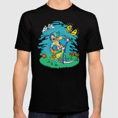 The Not-So-Grim Reaper Black SMALL Mens Fitted Tee