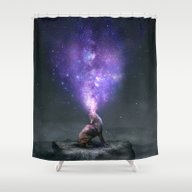 Shower Curtain featuring All Things Share The Sam… by Soaring Anchor Desig…