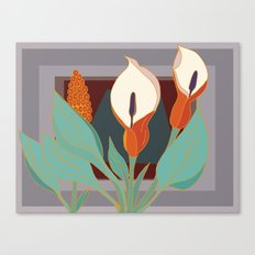 Arum Lilies III. Canvas Print