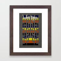 Eastachi -Wezteka Union. Framed Art Print
