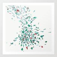 Flurry (green) Art Print