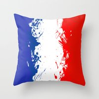 in to the sky, France  Throw Pillow