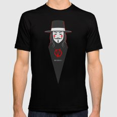 V for vendetta November 5 Minimal Poster Mens Fitted Tee SMALL Black