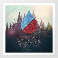Parachute Journalists - Andrew Jackson Art Print
