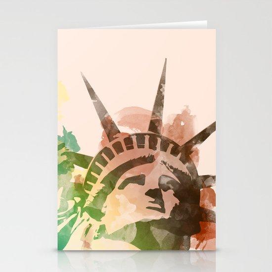 Miss Liberty Stationery Card