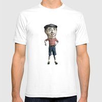 Capgròs Mens Fitted Tee White SMALL