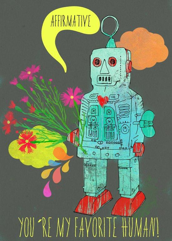 Robot Art Print