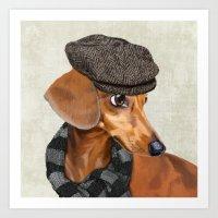 Elegant Mr. Dachshund Art Print
