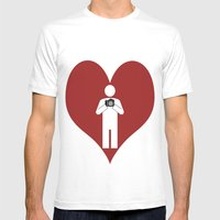T-Shirt I Love Photograp… Mens Fitted Tee White SMALL