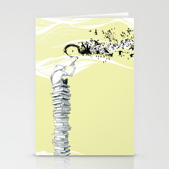 "Glue Network Print Series ""Education & Arts"" Stationery Card"