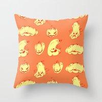 Crazy Pumpkin Party Throw Pillow