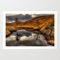 The Pool of Autumn Art Print