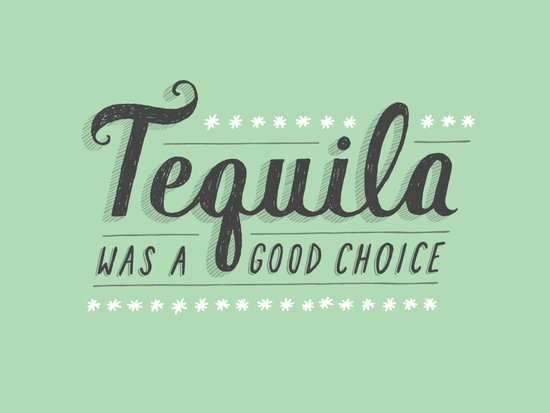 Tequila Was a Good Choice Art Print