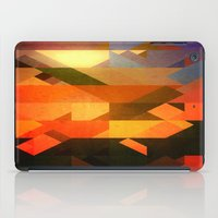 Retro Triangle and Texture iPad Case