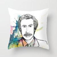 Ron Burgundy, Anchorman … Throw Pillow