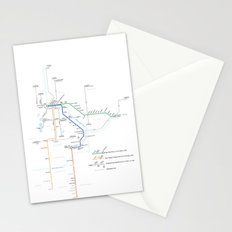 Twin Cities METRO System Map Stationery Cards