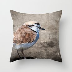 Western Snowy Plover Throw Pillow
