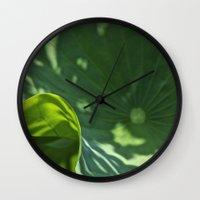Lotus leaf Wall Clock