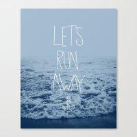 Let's Run Away: Ocean Canvas Print