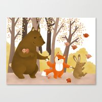 Friends Of The Forest Canvas Print
