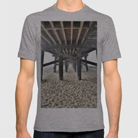 Under the Boardwalk Mens Fitted Tee Athletic Grey SMALL