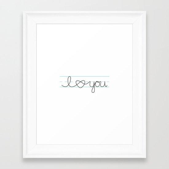 i heart ( love ) you Framed Art Print
