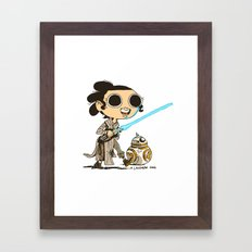 My Favorite Scavenger and Her Friend Framed Art Print