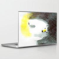 polar bear Laptop & iPad Skins featuring Polar Bear by Linette No