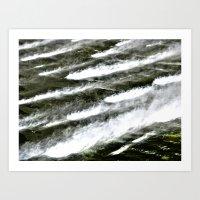 Misty Waters Art Print
