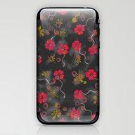 Floating Flowers iPhone & iPod Skin