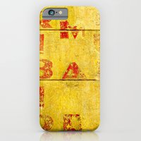 iPhone & iPod Case featuring Faded Red Letters by Ethna Gillespie