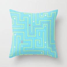 Maze Game Throw Pillow