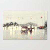 Driving In The Rain Canvas Print