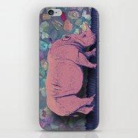 Pink Rhinoceros Collage iPhone & iPod Skin