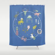Shower Curtain featuring Strange Fortunes: Dreams… by LordofMasks