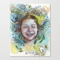 Giggle Canvas Print