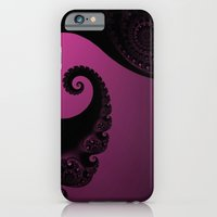 iPhone & iPod Case featuring Pink and Black Fractal by Christy Leigh