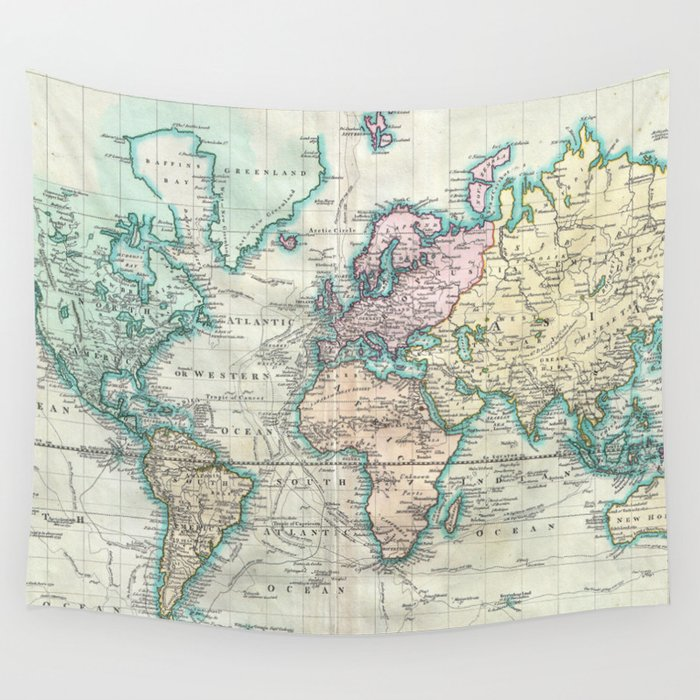 World Map Tapestry Map2