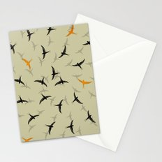 spiral birds Stationery Cards