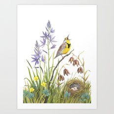 Morning in the Meadow Art Print