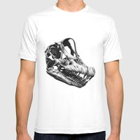 Brachiosaurus Mens Fitted Tee White SMALL