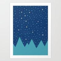 Stars And Peaks Art Print
