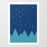 Stars And Peaks Art Print