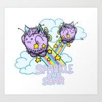 Sparkle and soar Art Print
