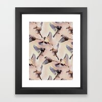 Sparrow Flight Framed Art Print