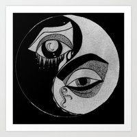 ying yang Art Print
