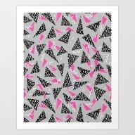 Trizza - Triangle Zig Za… Art Print