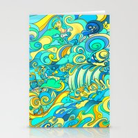 Cosmic Waterfall Stationery Cards